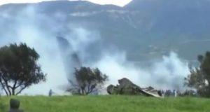 مكان سقوط الطائرة العسكرية ببوفاريك
